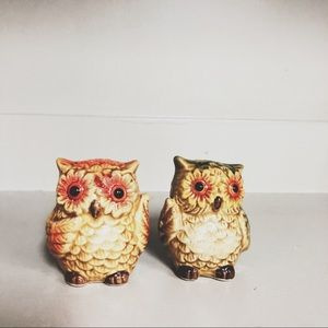 Owl salt and pepper shakers.